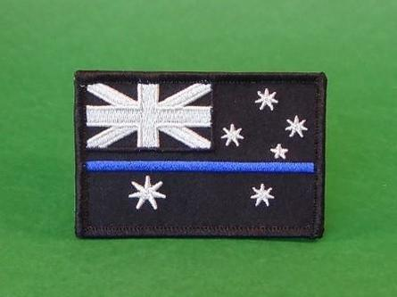 Thin Blue Line cloth patch